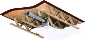 Greenheck Fan Damper Wood Truss Assembly
